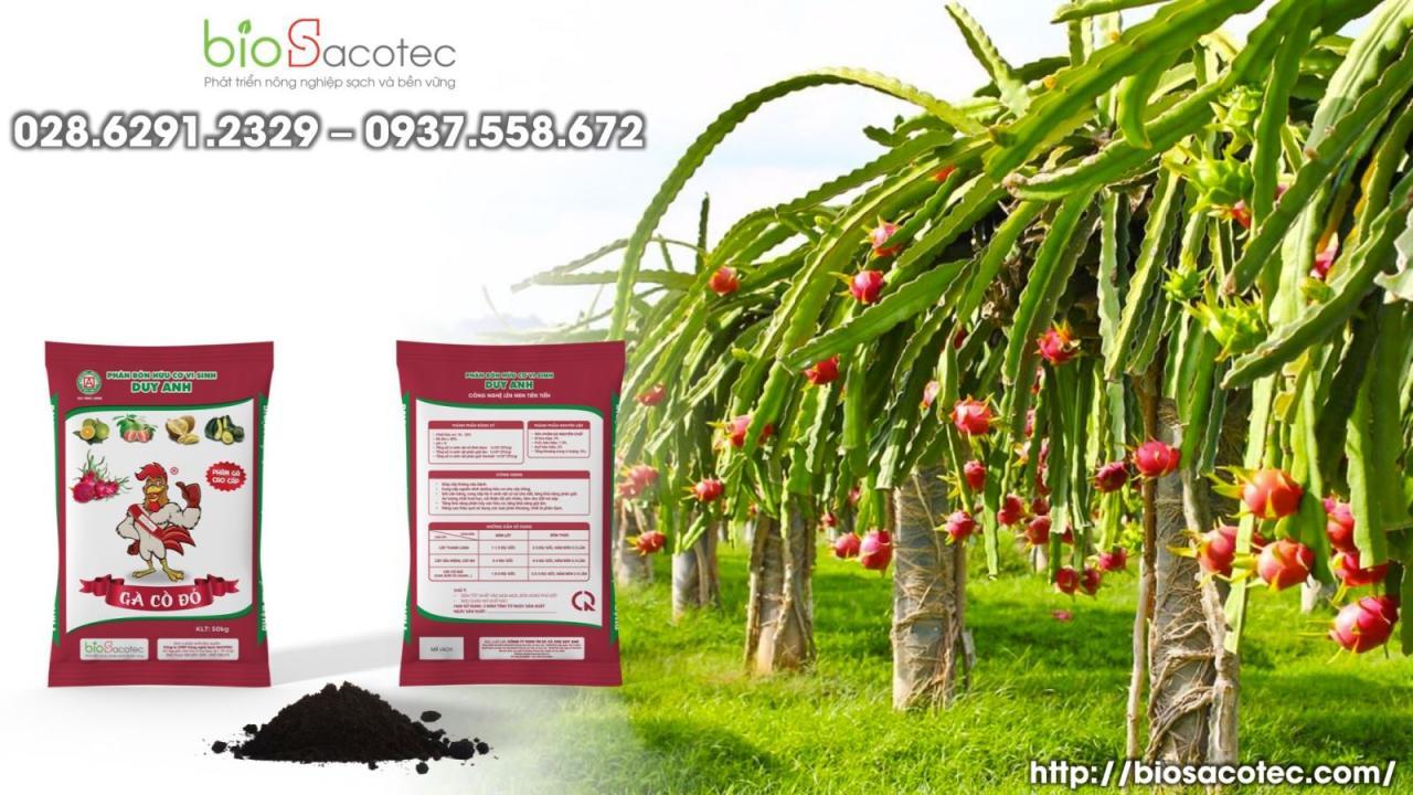 phân hữu cơ vi sinh gà cồ đỏ