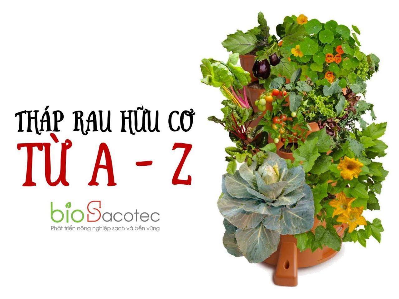 Tháp trồng rau hữu cơ