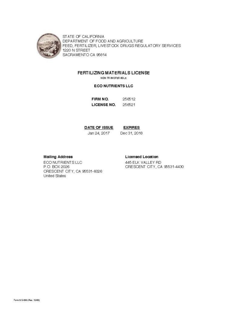 fertilizing material license