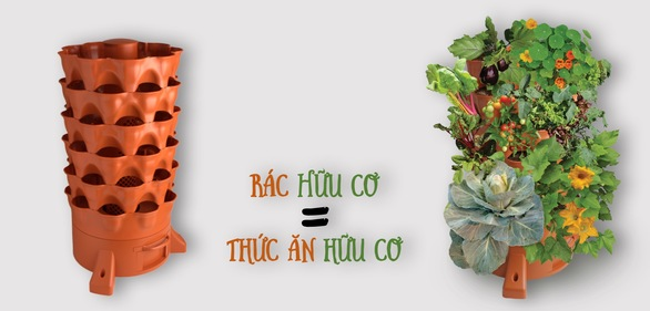 giới thiệu tháp trồng rau