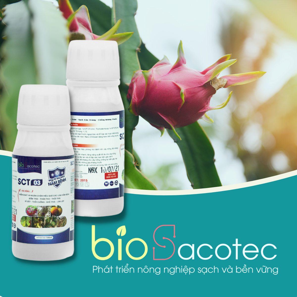 Chế phẩm sinh học SCT 03 – Phòng trừ nấm bệnh trái như thối trái, ghẻ sẹo, đốm trái, thán thư( 100ml)